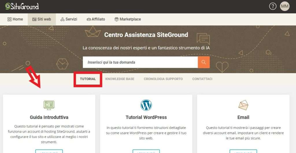tutorial siteground