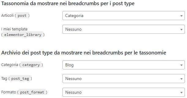 tassonomia e post type yoast seo