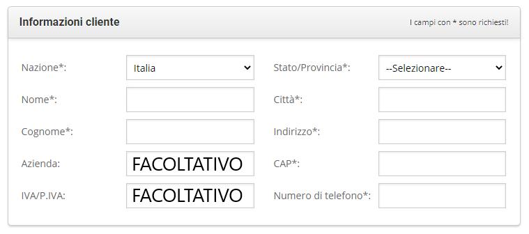 informazioni cliente siteground