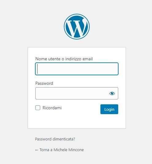accesso al tuo sito wordpress