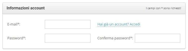 registrazione account su siteground