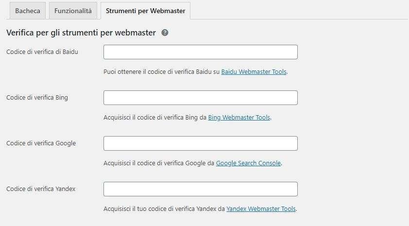 strumenti webmaster yoast seo