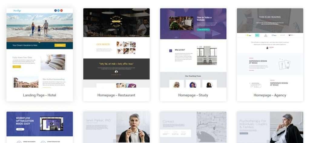 template costruiti elementor page builder wordpress