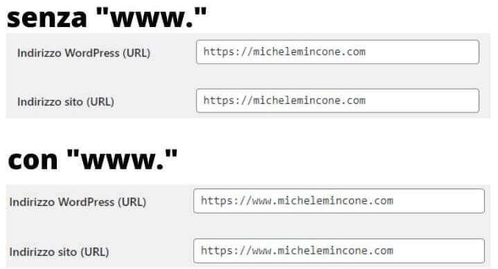 la presenza o meno del www prima del nome dominio non comporta nulla a livello SEO