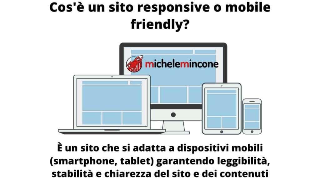 ecco cos'è un sito mobile friendly, un sito che si adatta ai dispositivi mobili garantendo stabilità, chiarezza e leggibilità